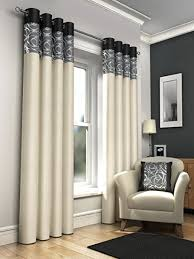 Grey Curtains 90 X 90 One Pair Of Faux Silk Fully Lined Eyelet Curtains 90 X 90 Approx