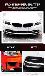 aliexpress com buy carbon fiber front bumper diffuser splitter
