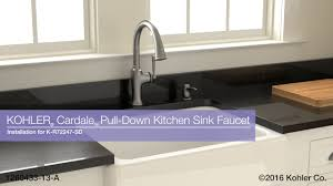 kohler kitchen sink faucet installation cardale pull kitchen sink faucet