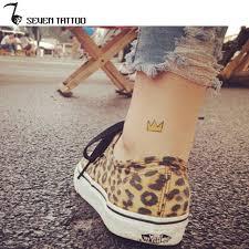 small king crown tattoos stickers waterproof tatoo unisex