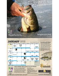 new 2018 on the water fishing calendar on the water outfitters