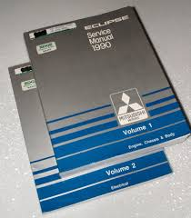 1990 mitsubishi eclipse factory service manuals 2 volume set