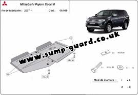 gearbox and differential guard for mitsubishi shogun sport 2