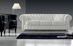 White Leather Chesterfield Chair Chesterfield Sofa Polyester 3 Seater White Mozart 297