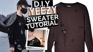 yeezy sweater yeezy inspired distressed sweater diy tutorial
