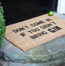 gin lover doormat housewarming gift doormat gin and