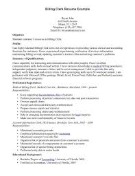 Sample Resume For Data Entry Clerk by Download Medical Billing Resume Haadyaooverbayresort Com