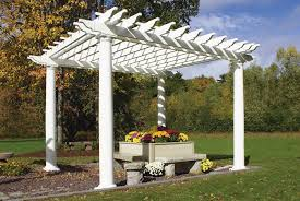 White Vinyl Pergola Kits by Vinyl Pergola Kits Lowes Home Design Ideas