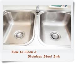 how to polish stainless steel sink how to clean a stainless steel kitchen sink food corner