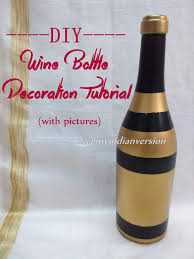 my indian version diy wine bottle decorations photo tutorial