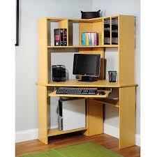 cheap corner computer desk morgan computer desk with hutch natural walmart com pertaining to