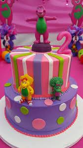 barney theme birthday cake for audrey u0027s birthday party audrey u0027s