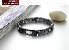 energy bracelet titanium images Classic man ceramic energy magnetic stone couple bracelet 316l jpg