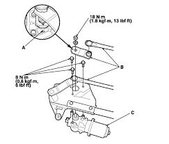 2003 honda accord ex v6 wiper motor and linkage