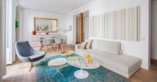 living room open floor plan a bright and comfortable apartment interior design in madrid