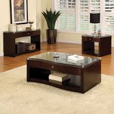 coffee table coffee and end table set a sub shelf on each piece