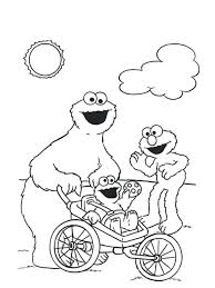 coloring pages cookie monster coloring pages kids images