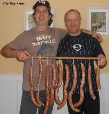 making salami city boy hens