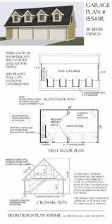 two car garage with shed roof loft plan 1610 1 30 u0027 x 30 u0027 by behm
