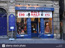 morrisons bureaux de change souvenir shop edinburgh scotland stock photos souvenir shop