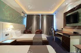 modern contemporary interior of a hotel room with furniture modern contemporary