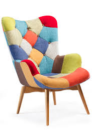 Armchair Sales Patch Lounge Chair In Multi Color And Ash Legs 50ies Vintage