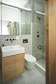 small bathroom design mini vanity and shower area wnętrza