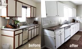 Refinishing Kitchen Cabinets Before And After by Stupendous Painting Formica Cabinets Before And After Pictures 51