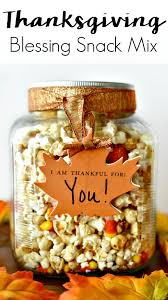 thanksgiving blessing snack mix recipe for teachers