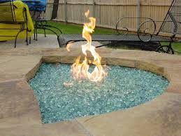 How To Make A Gas Fire Pit by Decorative Fire Glass