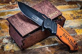 wedding gift knives personalized engraved knife wooden gift box groomsmen custom