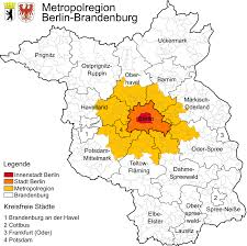 Map Of Berlin Germany by Berlin Brandenburg Metropolitan Region Wikipedia