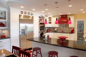 Schoolhouse Lights Kitchen Fresh Red Pendant Lights For Kitchen 75 About Remodel Schoolhouse