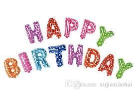 16 set happy birthday letters alphabet foil balloon letter