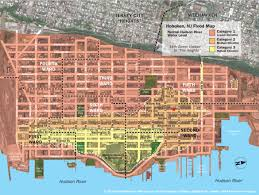 Flood Map New Hoboken Flood Map With Water Levels Post Hurricane Sandy