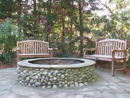 Backyard Stone Fire Pit by 14 Best Stone Fire Pits Images On Pinterest Outdoor Ideas Stone