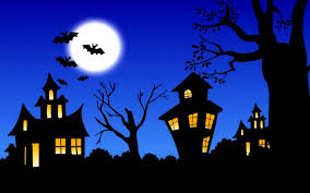 furniture adorable halloween silhouette cameo bat moon house
