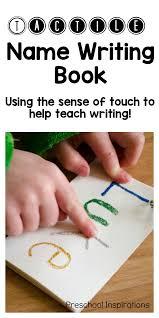 tactile name writing practice preschool inspirations
