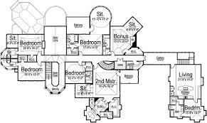 monster floor plans european house plan 6 bedrooms 8 bath 7618 sq ft plan 24 126