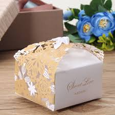 wedding gift boxes 10 100pcs sweet flower laser cut ribbon candy boxes wedding favor