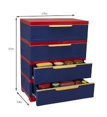 nilkamal kitchen furniture nilkamal freedom chester 14 with 4 drawers pepsi blue and