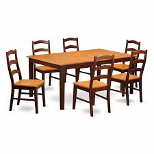 7 piece dining room sets amazon com east west furniture henl7 brn w 7 piece dining table