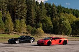 which is faster lamborghini or f12 vs lp700 4 lamborghini aventador x 4 races