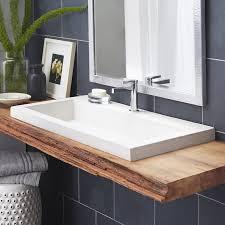 bathroom trough sink bathroom double trough sink wayfair