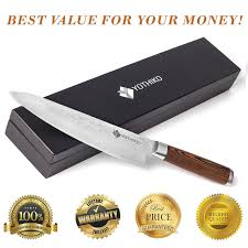 best kitchen knives for the money amazon com 8 inch chef knife with razor sharp vg 10 japanese