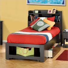 twin bed with storage drawers and headboard 162