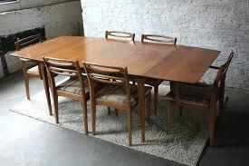mid century dining room table modern design narrow width dining