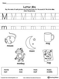 words starting with letter m worksheets activities and kindergarten