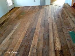 antique reclaimed flooring installed living vintage