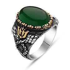 mens stone rings images Green aqeeq stone silver men ring boutique ottoman jewelry store jpg